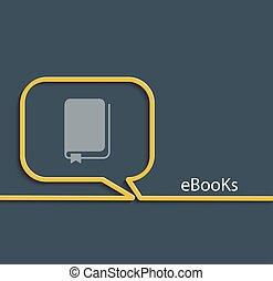 ebook, vector, illustration.