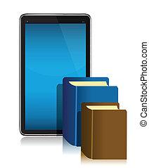 ebook, y, libros