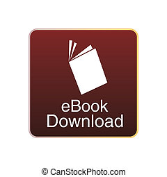 ebooks - a red squared icon with a white silhouette of an...