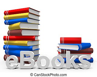 eBooks - real Books with the word ebook