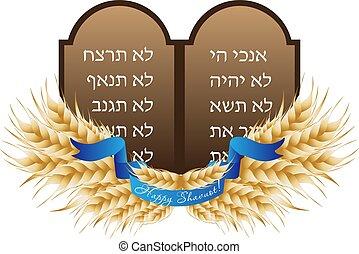 ebreo, shavuot, pietra, vacanza, tavolette