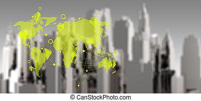 ebusiness, concept, réseau, social