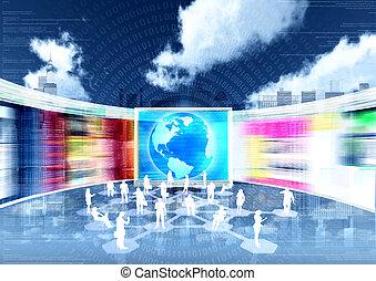 ebusiness, sociaal, networking, &