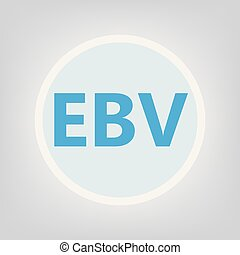 EBV (Epstein Barr virus) acronym- vector illustration