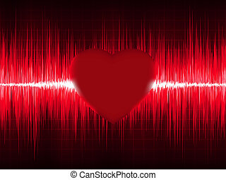 ecg, coeur, eps, beat., 8, électrocardiogramme