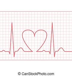 ECG - electrocardiogram feed - ECG - electrocardiogram on...