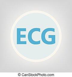 ECG (electrocardiogram)- vector illustration
