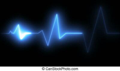 ECG health medical monitor. loop