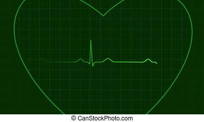 Ecg heart background loop, hd