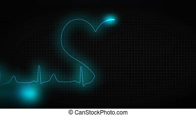 ECG heart healthy. Healthy lifestyle