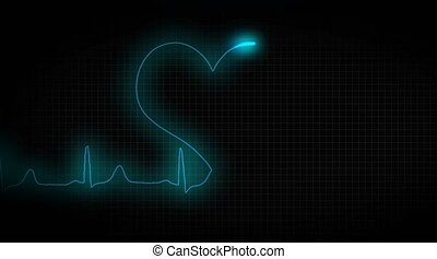 ECG heart healthy. Healthy lifestyle