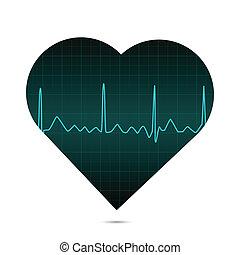 ECG Heart, Illustration