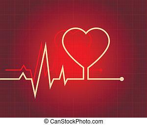 ECG heart-shaped