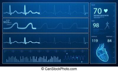 ECG monitor in loop - Heart concept