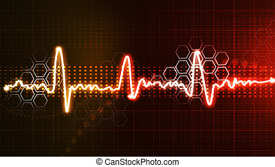 ecg, plano de fondo, electrocardiograma