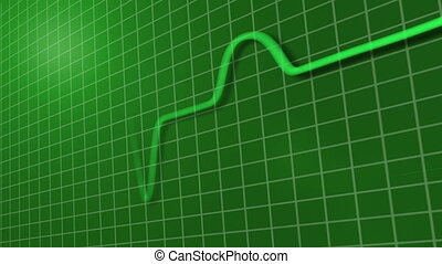 ECG trace of heart beat