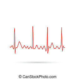 ECG Wave - Illustration of an electrocardiogram wave...