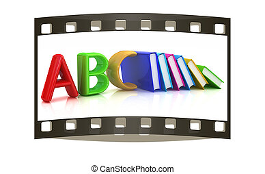 echte, alfabet, boekjes , kleurrijke