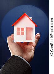 echte, eigendom, concept, of, verzekering