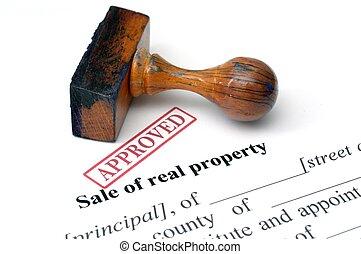 echte, eigendom, verkoop