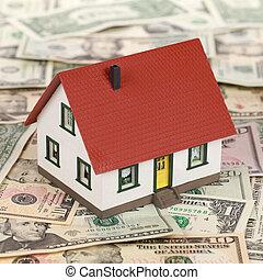 echte, financiering, landgoed, (dollars)