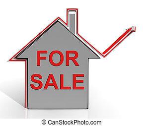 echte, het verkopen, landgoed, middelen, woning, verkoop