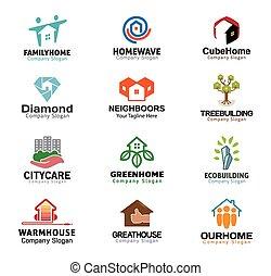 echte, huisvesting, ontwerp, landgoed
