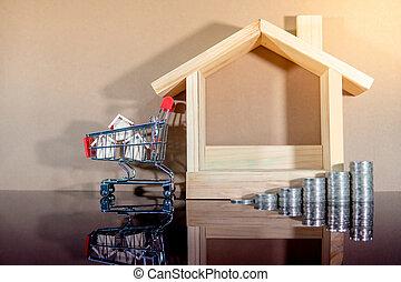 echte, investment., concept, landgoed, eigendom, aankoop