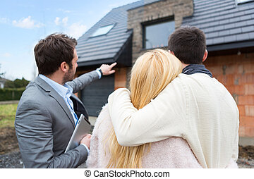 echte , kunden, immobilienmakler, details, shows