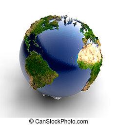 echte, miniatuur, aarde