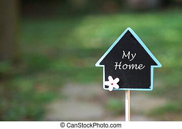 echte, mooi, landgoed, plek, bevinding, thuis, mijn, concept: