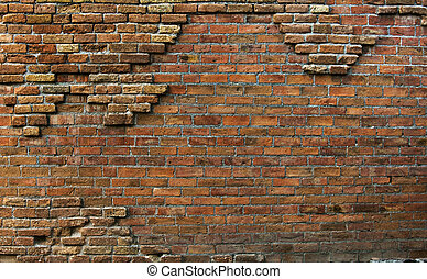 echte, mooi, muur, ouderwetse , roestige , achtergrond