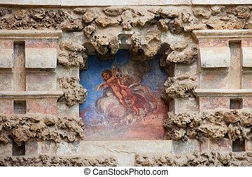 echte, niche, fresco, alcazar, seville