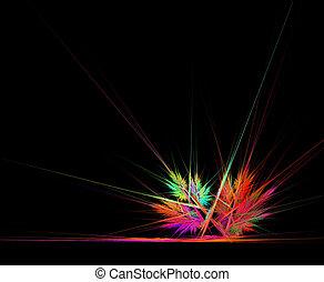 ecke, abstrakt, leuchtsignal
