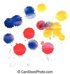 eclabousse, aquarelle, coloré