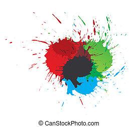 eclabousse, peinture, couleur