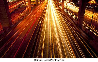 eclairage rues, nuit