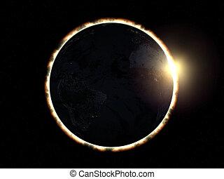 Eclipse - 3D simulation of total solar eclipse