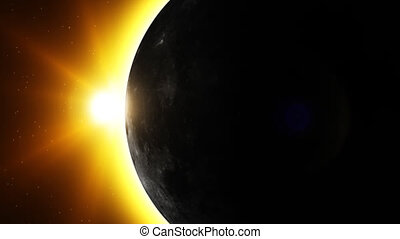 Animation of eclipse scene.