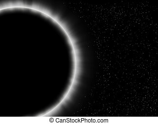 Eclipse close-up - Illustration about an eclipse close-up in...