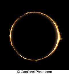 eclipse., estoque, illustration.