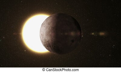 Eclipse of the sun, Solar eclipse with sun glow. Elements of this image furnished by NASA