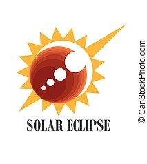 eclipse, solar, icono