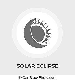 eclipse solar, plano, icono