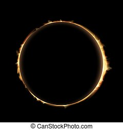eclipse. Stock illustration. - Total eclipse of the sun....