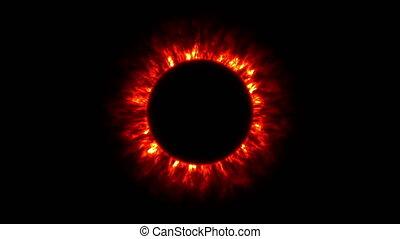 eclipse sun corona 4k