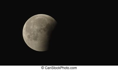 Eclipsed moon moving in the sky very fast - Eclipsed moon...
