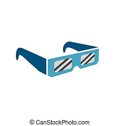 eclissi, -, indicatore, solare, totale, tranquillamente, occhiali