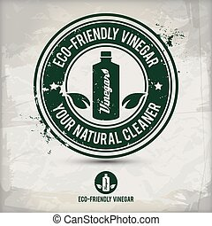 eco, ättika, alternativ, vänskapsmatch, stämpel