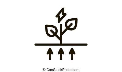 eco, énergie, animation, icône